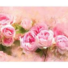 Yikee Алмазная вышивка цветы букет квадратные стразы картины