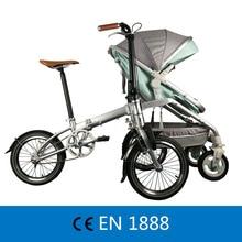 Recreational Parent-child Folding Bicycle Cruiser bike Pedicab  for Mother & Baby, Parent-child Bike, 2 in 1 Baby Stroller цена в Москве и Питере