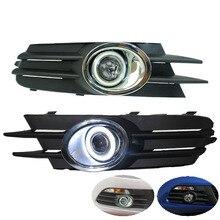 EeMrke светодиодный DRL ангельские глазки для Volkswagen Scirocco 2008~ 2013 Противотуманные фары H11 55 Вт галогенный светодиодный комплект дневных ходовых огней