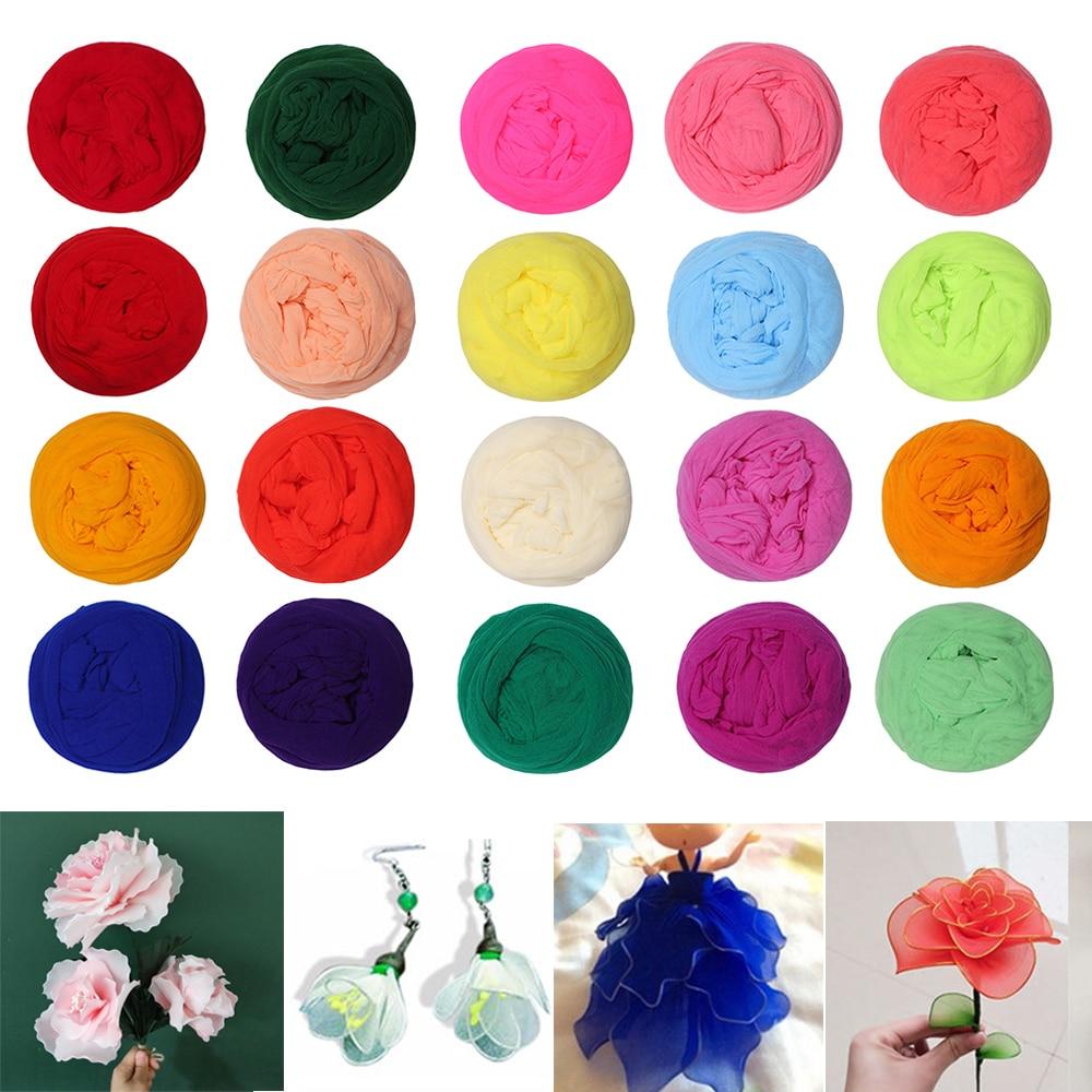 5 pçs multicolorido artificial flor acessório decoração para casa artesanal grinalda festa de seda de estocagem de seda elástica tela diy flor de náilon