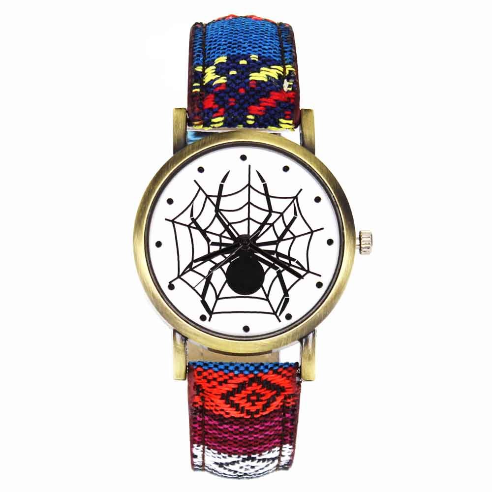Pelottava musta hämähäkki web hyönteisten suunnittelu kellot - Miesten kellot - Valokuva 2