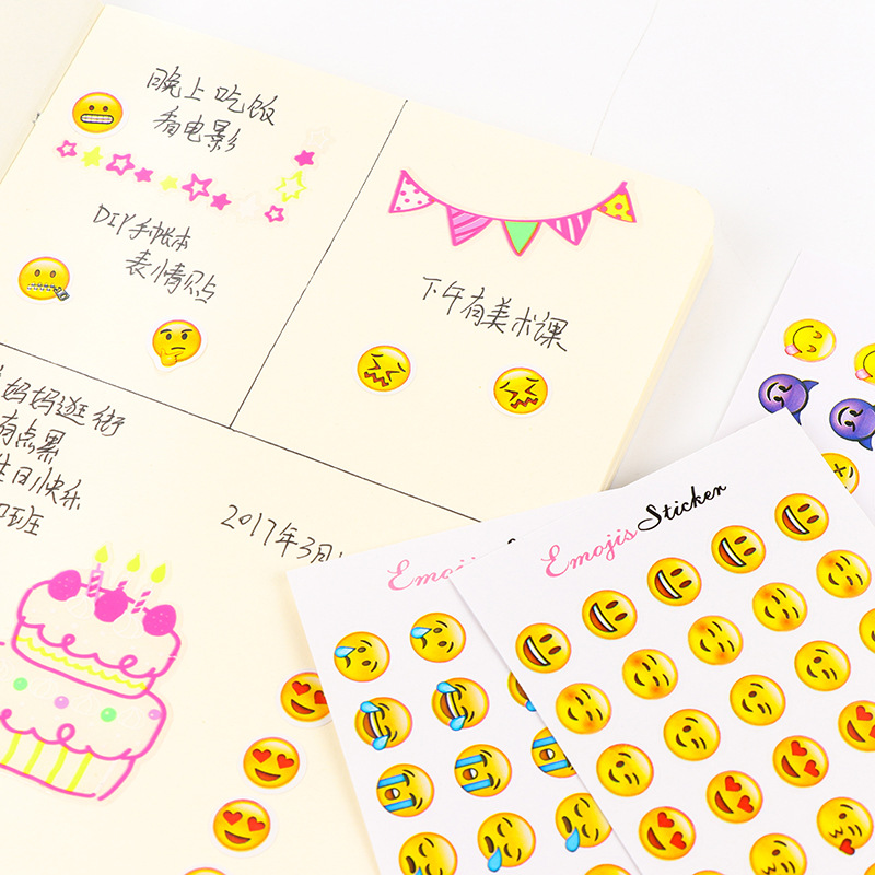 6 Sheets/Set 330 Emoji Smile Face Diary Stickers DIY Kawaii Scrapbooking Stationery Sticker Stationery New School Supplies6 Sheets/Set 330 Emoji Smile Face Diary Stickers DIY Kawaii Scrapbooking Stationery Sticker Stationery New School Supplies
