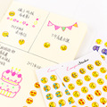 6 Sheets/Set 330 Emoji Smile Face Diary Stickers DIY Kawaii Scrapbooking Stationery Sticker Stationery New School Supplies