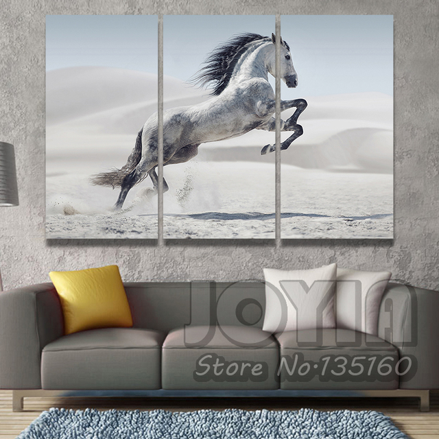 Gallop Horse Wall Art Picture Animal On White Sands Photography ...