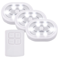 Wireless Remote Control LED Under Cabinet Lights Battery Powered LED Night Light RF Remote Dimmable Timer
