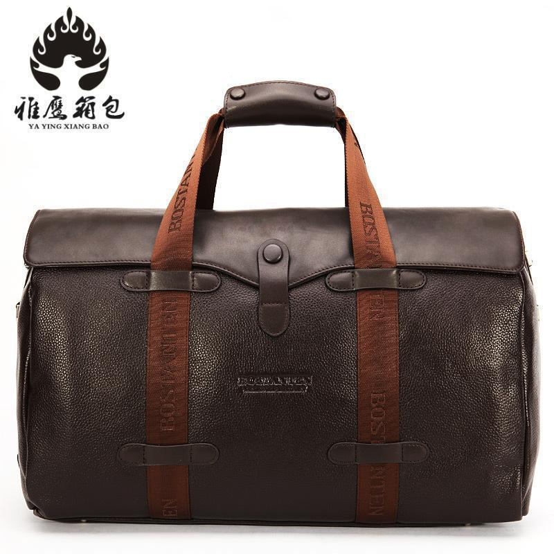 Brand Fashion Extra Large Weekend Duffel Bag Big Genuine Leather Business Men's Travel Bag Popular Design брюки weekend max mara weekend max mara we017ewtmp41