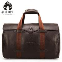 Brand Fashion Extra Large Weekend Duffel Bag Big Genuine Leather Business Men's Travel Bag Popular Design