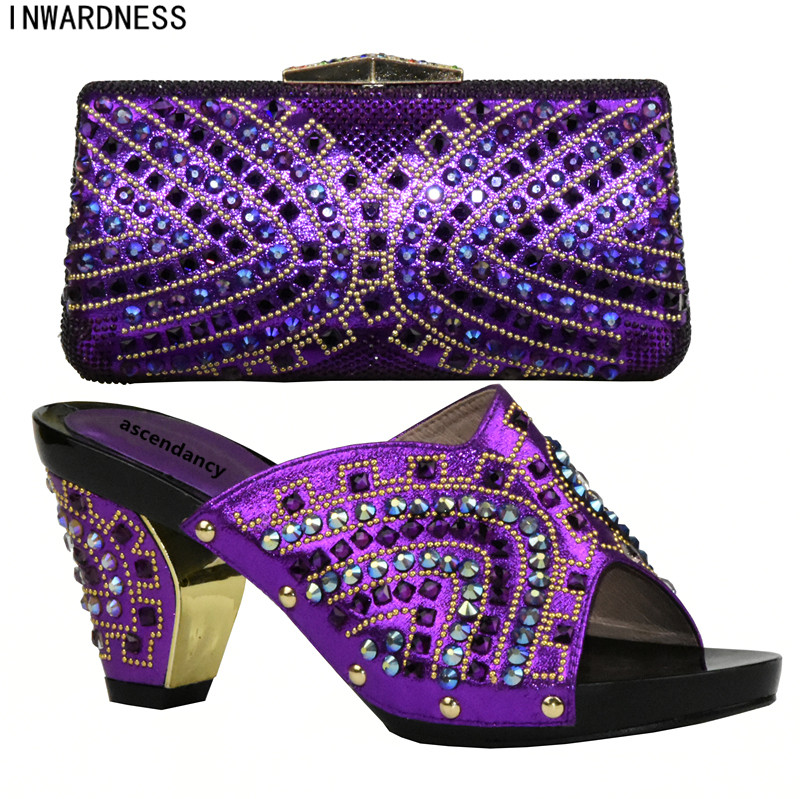 púrpura Nueva Mujeres Para A Con Zapatos África Conjuntos De Juego Italia Conjunto Bolso Oro El azul rojo Partido plata Bolsas Llegada Y Las Real fuchsia En rY8qxC1r