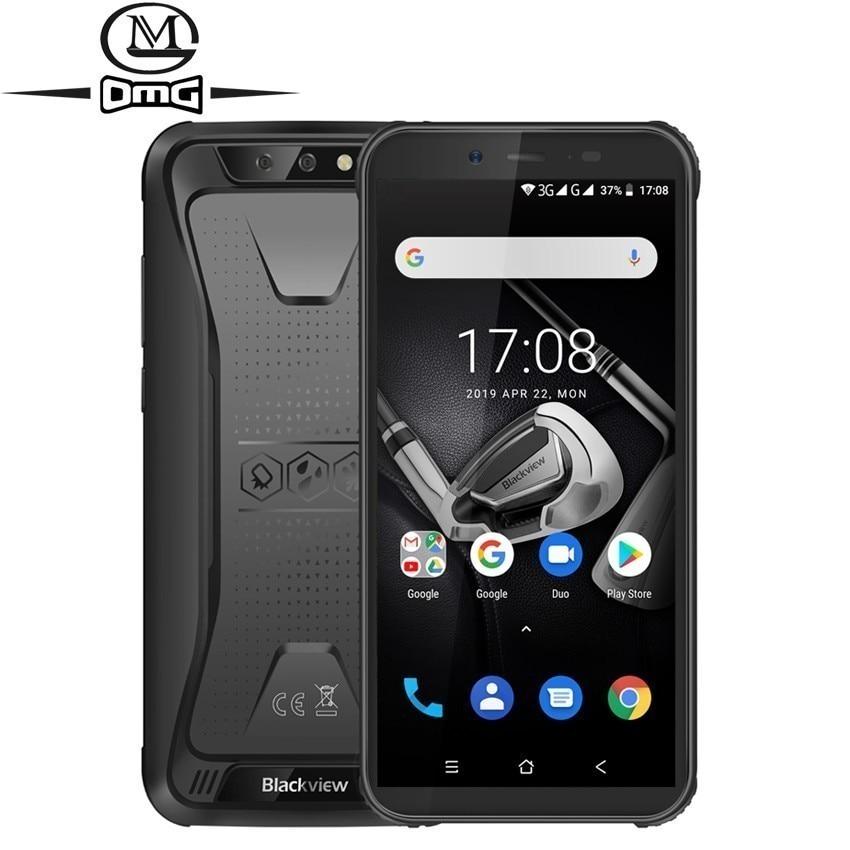 Blackview bv5500 pro nfc robusto à prova de choque telefone móvel android 9.0 5.5