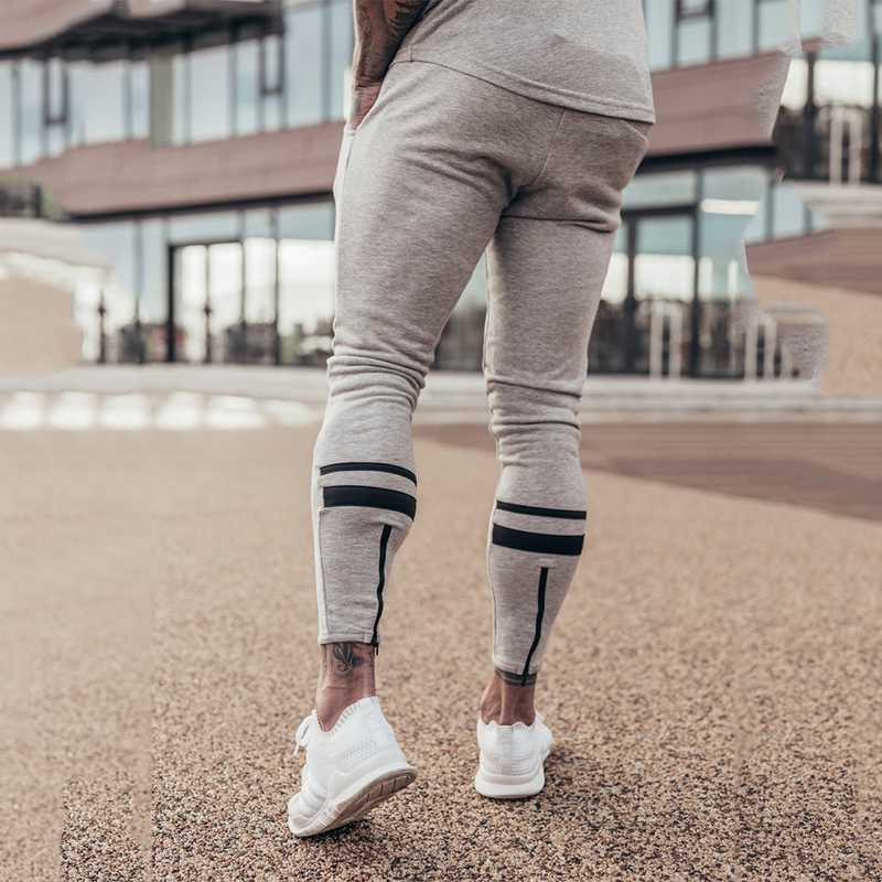 Image 4 - GYMOHYEAH Joggers Male Trousers Casual Pants Men Sweatpants Jogger Casual Elastic cotton GYMS Fitness Workout panTS black gray-in Skinny Pants from Men's Clothing