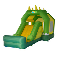 Двор зеленая змея надувной дом отказов надувной воздушный замок батут слайд батут забавная игра игрушка для детей