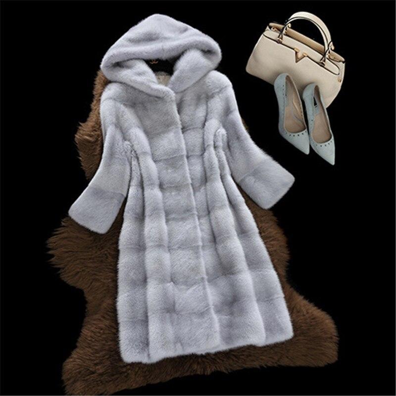 2018 Nouvelle Manteau gray Cx412 Femmes Poitrine Chaleur Unique Cuir Mode Faux Hiver Black En white Ldhtzkcx Capuchon La Épaisse face À Fourrure pink Poches Double wCB0ztxq