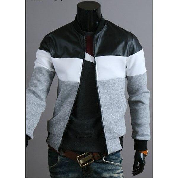 Free shipping Hot Men's fashion stitching design men's jacket casual jacket