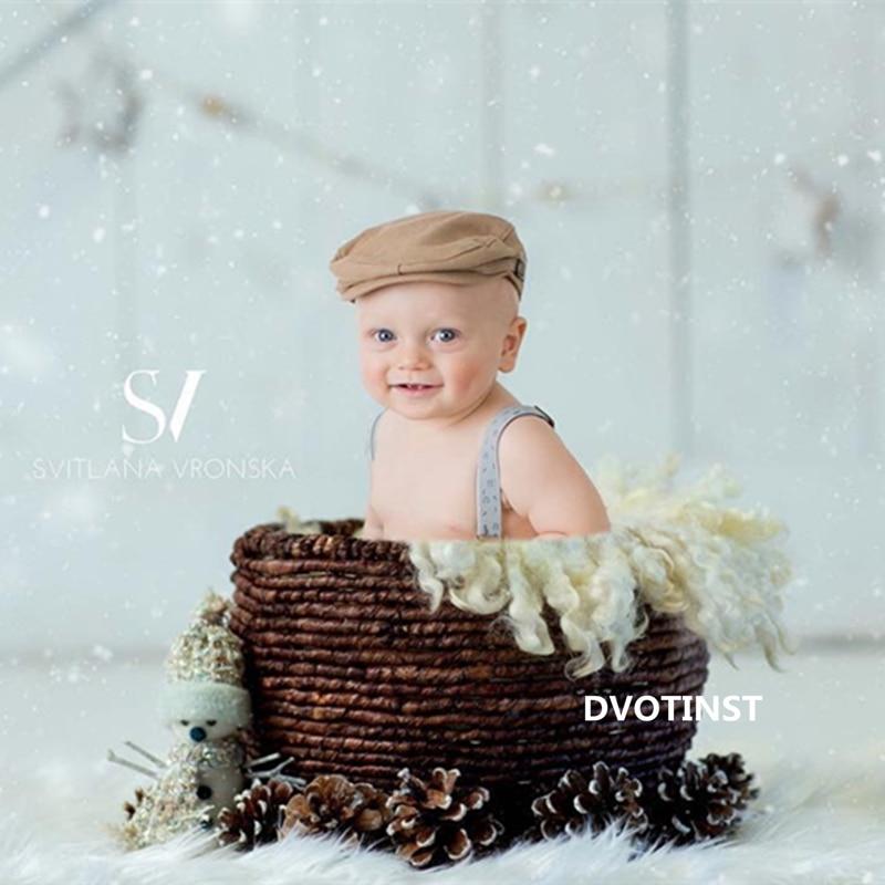 Dvotinst Baby Photography Props Iron Posing Rattan Basket Decoration Fotografia Accessories Toddler Studio Shooting Photo Prop