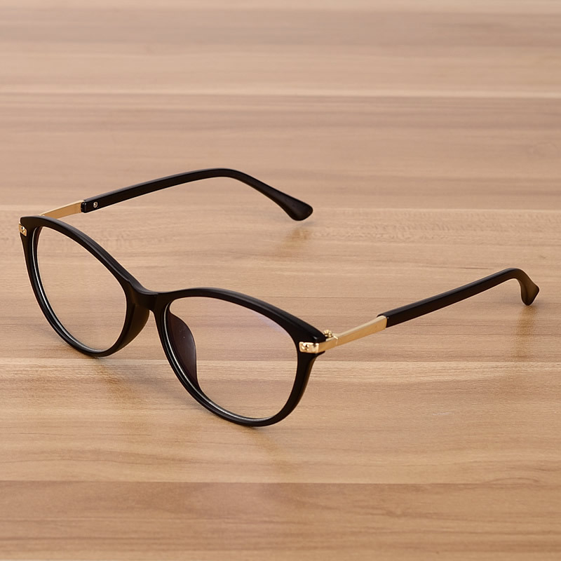 Retro Brillen Optische Frames Helder Lens Bril Zwart Transparant Ovaal Cat Brillen Eyewear Frames Spectacle Women Men