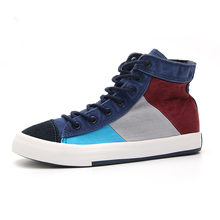 Men's Vulcanize Shoes Men Spring Autumn Top Fashion Sneakers Lace-up High Top Mixed Colors Man Shoes Hip hop style Casual shoes(China)