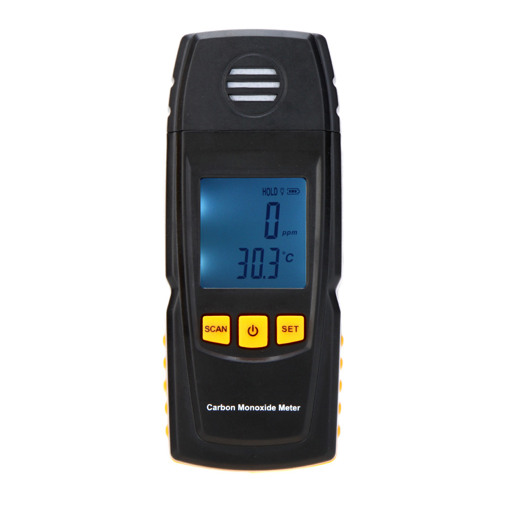Carbon Monoxide Meter High Precision Portable CO Gas Monitor Detector Gauge 0-1000ppm Digital Gas Leak Tester