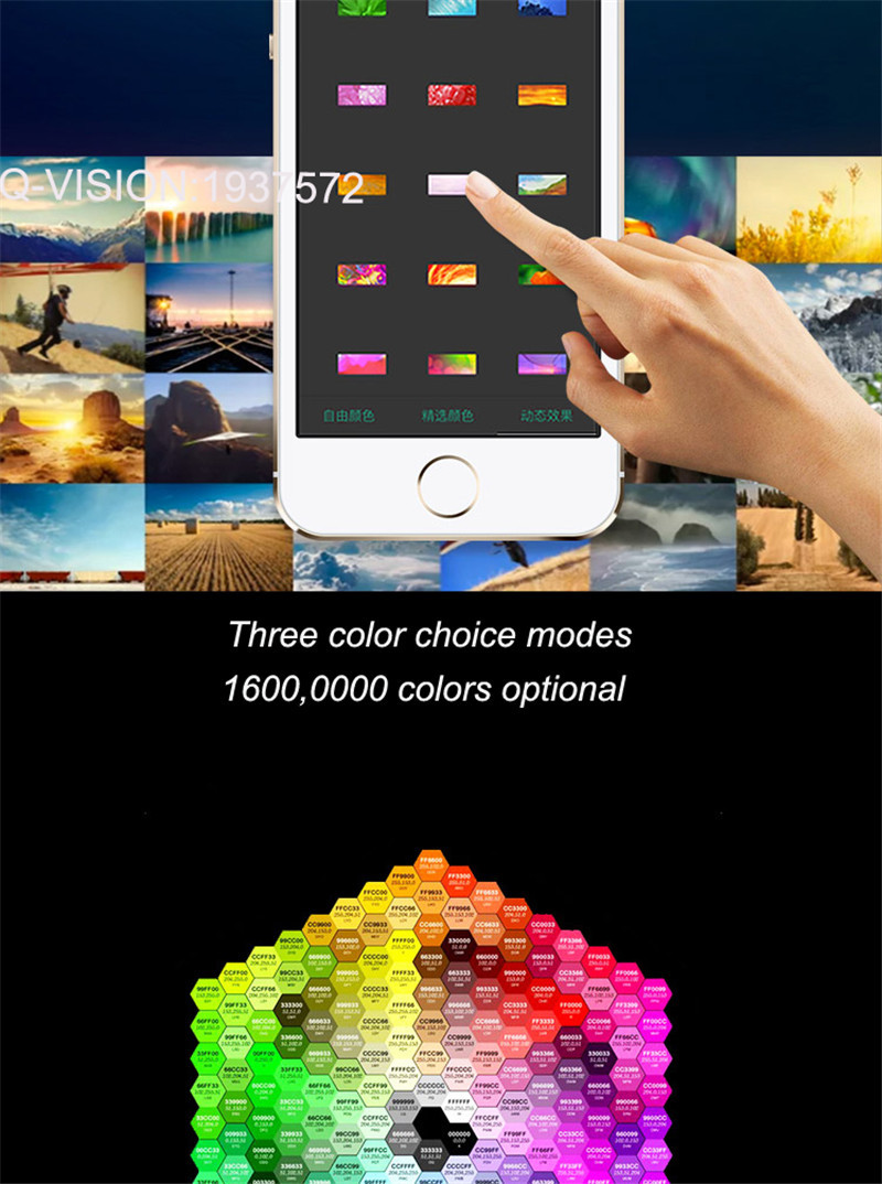5-Lifesmart New LED Light Strip Wireless Remote Control by Phone16 Million Colors RGB Dimmable Smart Home Automation Customerized