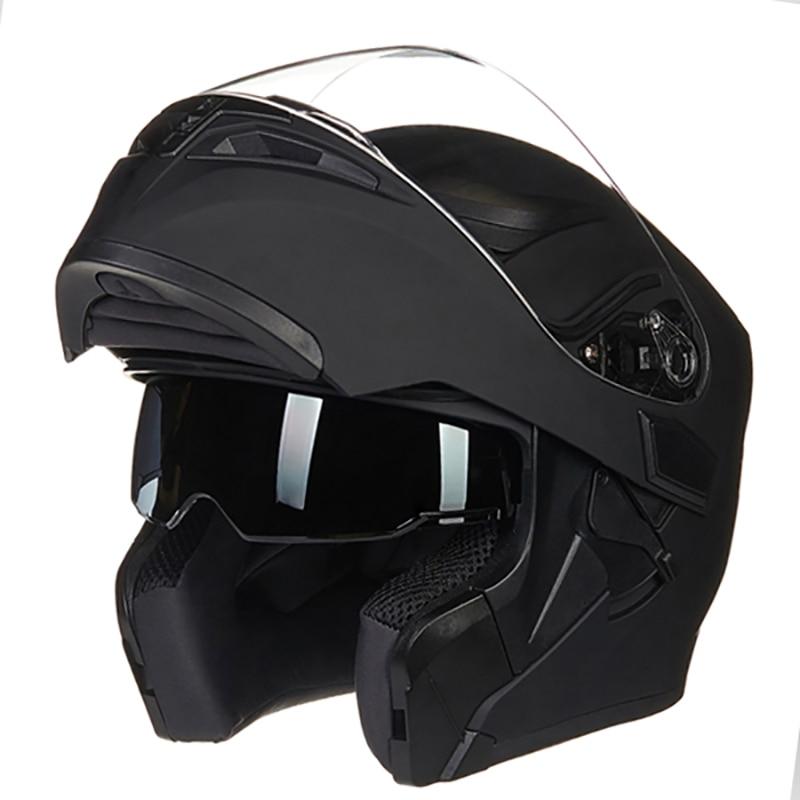 JIEKAI 902 Motorcycle Flip Up helmets Dual Visor Modular Helmet Full face helmet racing double lens