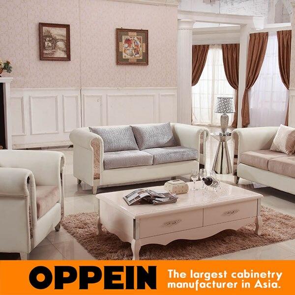 Bankstel woonkamer meubels Moderne Witte Melk Hoge Kwaliteit Stof ...