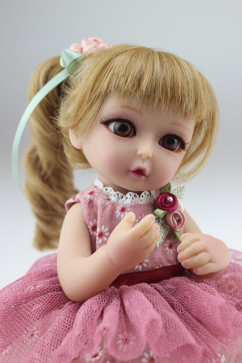 ФОТО SD/BJD Doll Reborn American Girl Cute Dolls 10 inches Babies Realistic Doll Cute Doll Handmade Full Vinyl Gift for Children