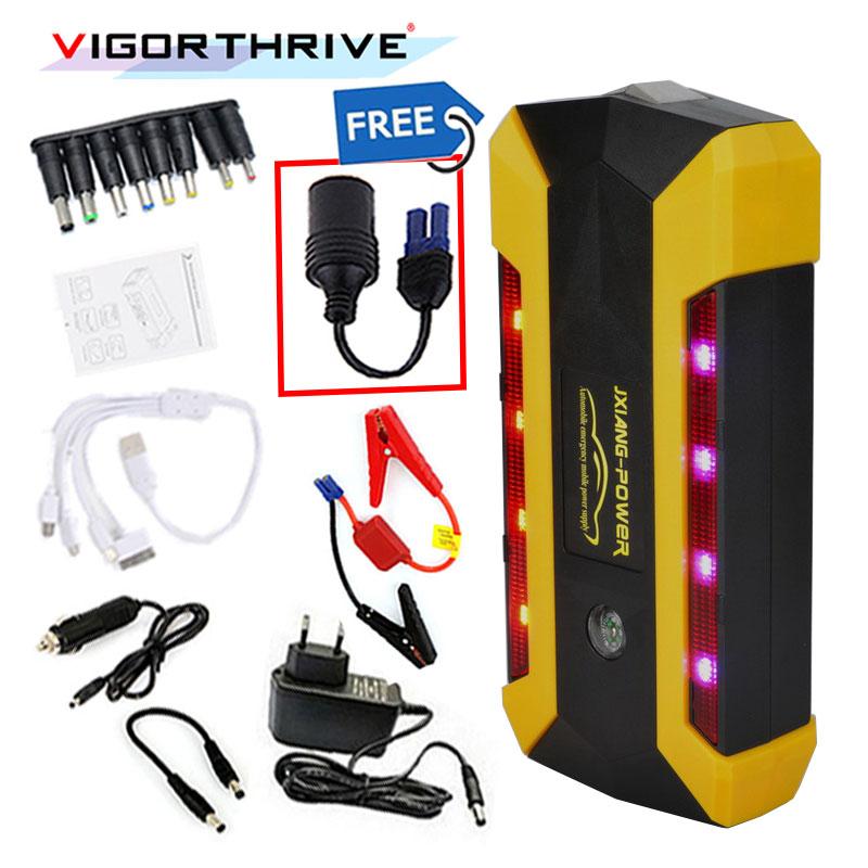 Voiture batterie externe Auto amplificateur de batterie 600A Démarrage D'urgence Dispositif Portable Pour L'essence SOS Lumière Démarreur Voiture De Saut écran lcd