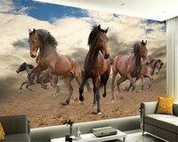 Beibehang 3D Any Size Wallpaper Stereo Pentium P Plus Pentium Horse Horse TV Background Papel De