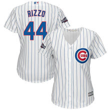 c529738a1 MLB Women s Chicago Cubs Anthony Rizzo Home White Royal 2016 Postseason  Patch Cool Base Player Jersey