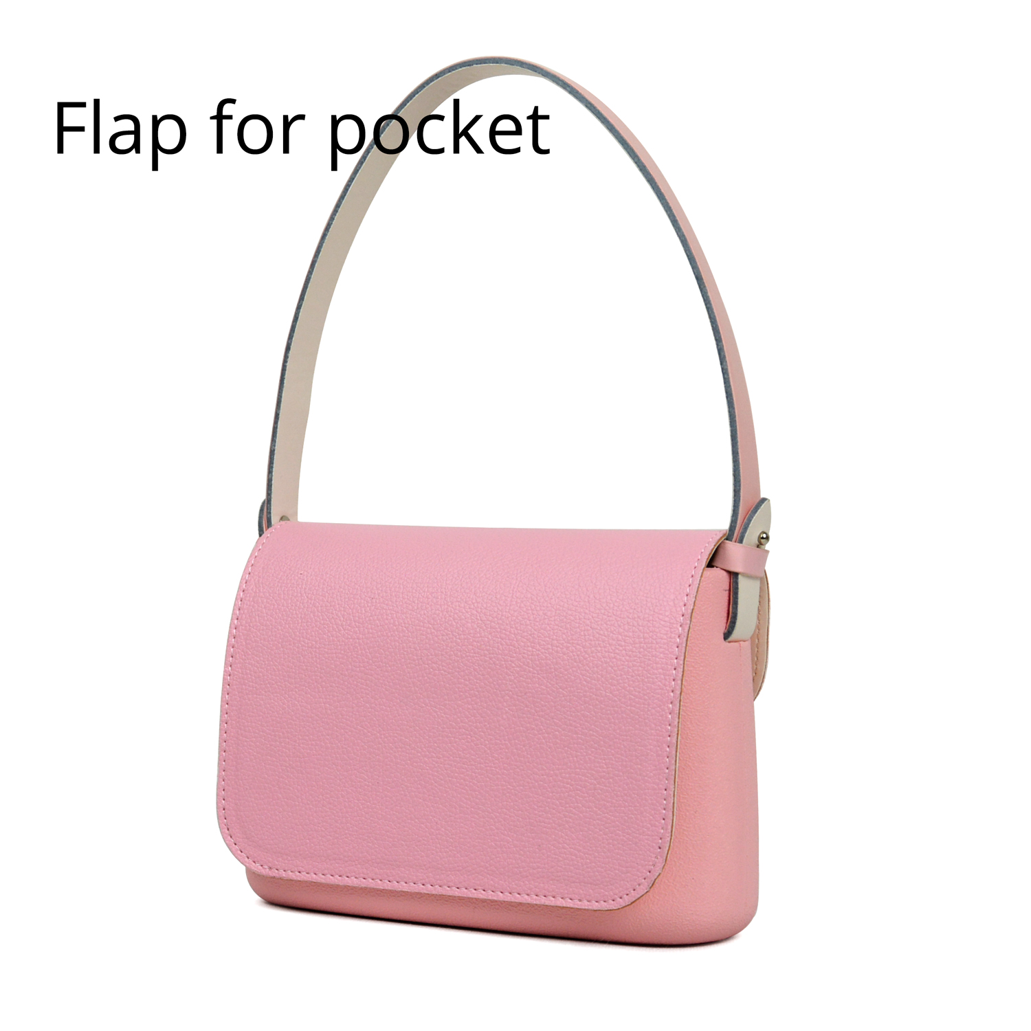 2018 Lichee Pattern PU Leather Flap Replacement Cover Lid Clamshell With Magnetic Lock Snap Fastener For Obag O Pocket O Bag