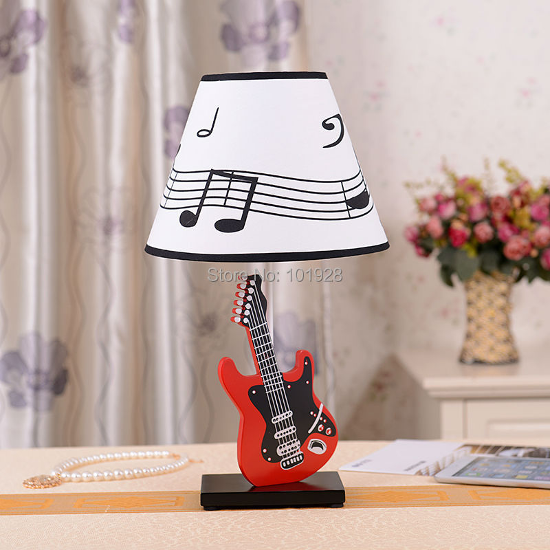 Bedroom lamp bedside lamp red guitar desk lamp of children room bedroom lamp bedside lamp red guitar desk lamp of children room decorate the lamp that shield an eye cartoon creative lovely in led desk lamps from lights aloadofball Image collections