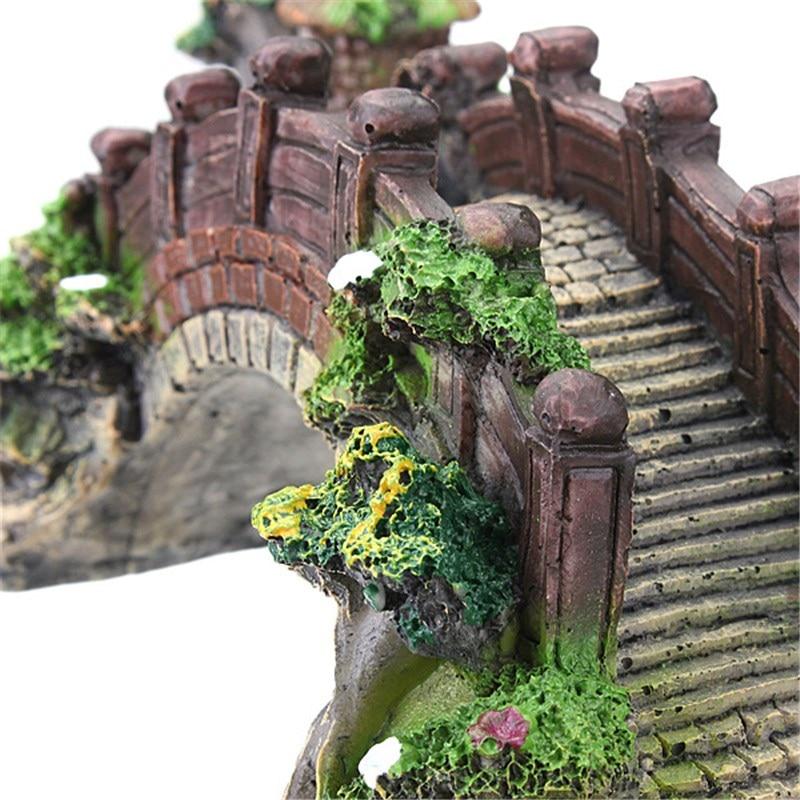 Buy aquarium decoration bridge pavilion for Aquarium bridge decoration