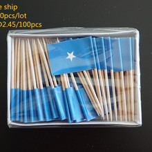 Somalia toothpick flags, Country flag, Cake toppers, total 2000pcs, 100pcs/bag, Free ship