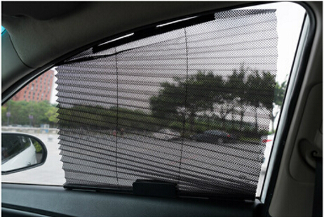 Adjustable Car Window Sunshade Curtain Black Side Rear Window Car Window Solar Protection AP8011