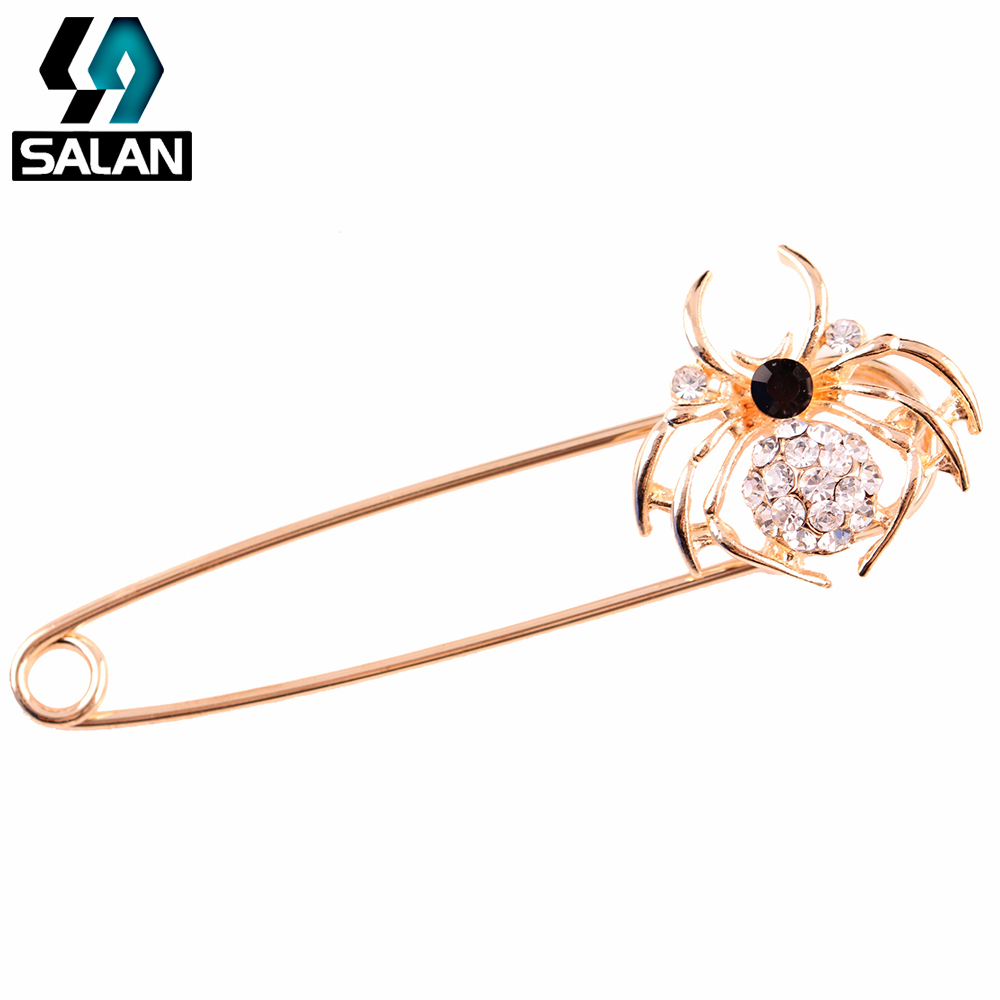 Korean fashion inlaid rhinestone spider brooch pin high-end personalized crystal costume brooch accessories