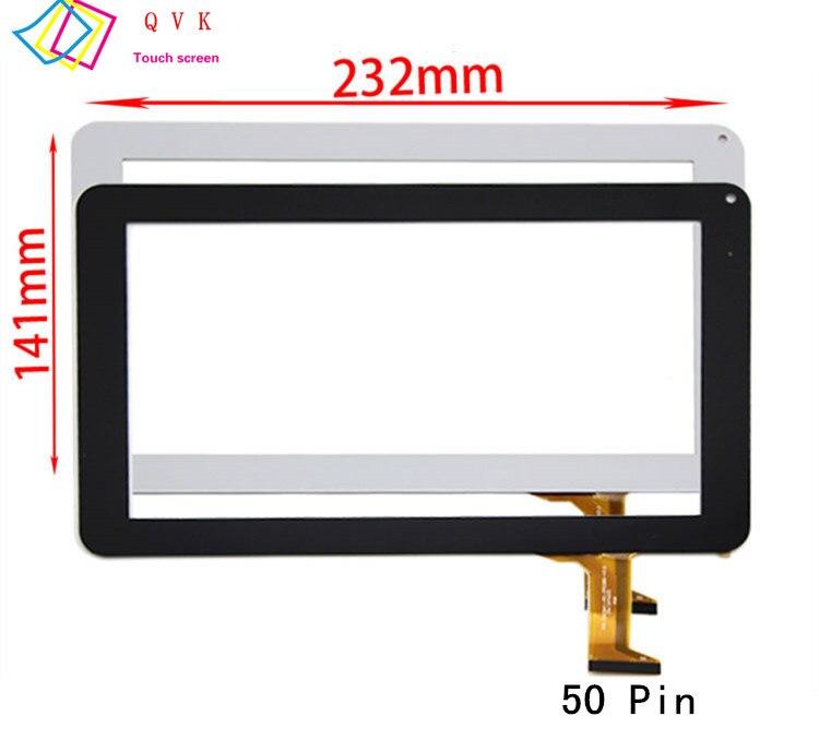 Bilgisayar ve Ofis'ten Tablet LCD'ler ve Paneller'de Siyah beyaz 9 inç P/N FX C9.0 0068A F 02 için N8000 N9000 kapasitif dokunmatik ekran paneli onarım yedek yedek parça