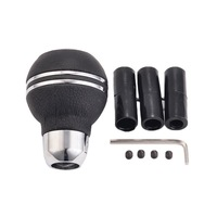 Styling Black Leather Gear Knob 1 Pcs Aluminum Manual Manual Transmission Gearstick Lever Shift Knobs