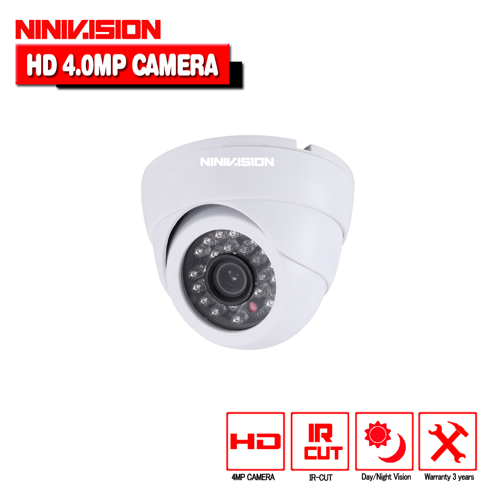 NINIVISION 4 0MP AHD Dome Camera HD 2560 1440 4MP Indoor Dome White Security surveillance Camera CCTV Cam with 4mp hd lens in Surveillance Cameras from Security Protection
