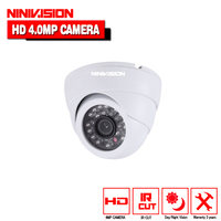 NINIVISION 4.0MP AHD Dome Camera HD 2560*1440 4MP Indoor Dome White Security surveillance Camera CCTV Cam with 4mp hd lens