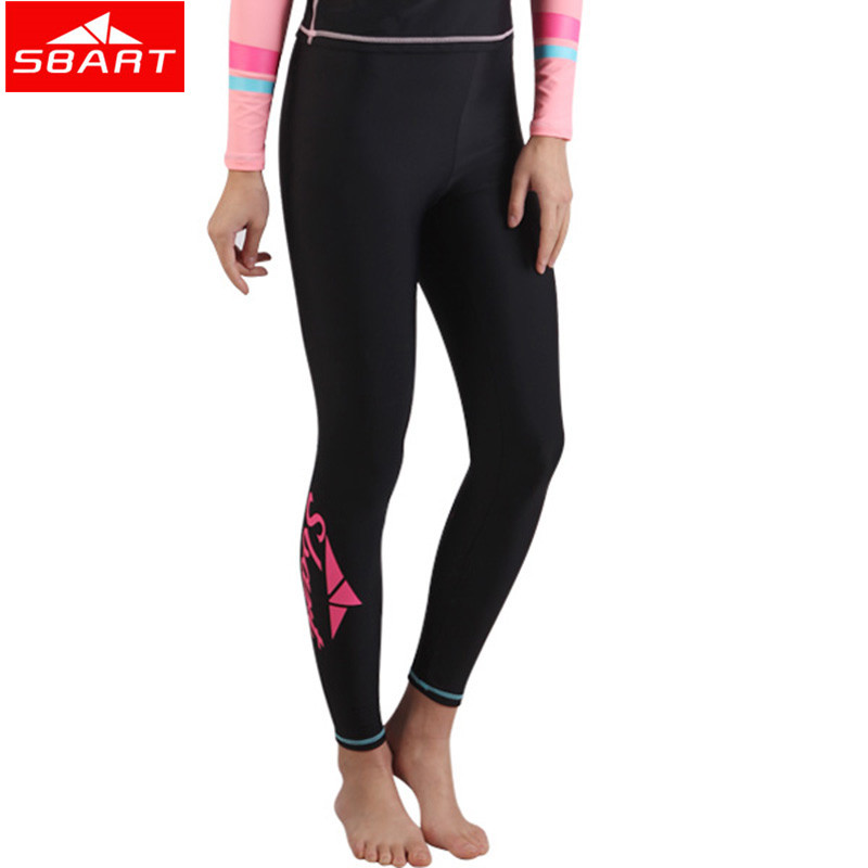 SBART Women Men Surfing Leggings Wetsuit Pant Rash guard Tight Pants Swimsuit Anti-Jellyfish Snorkeling Trunks Plus Size 3XL L