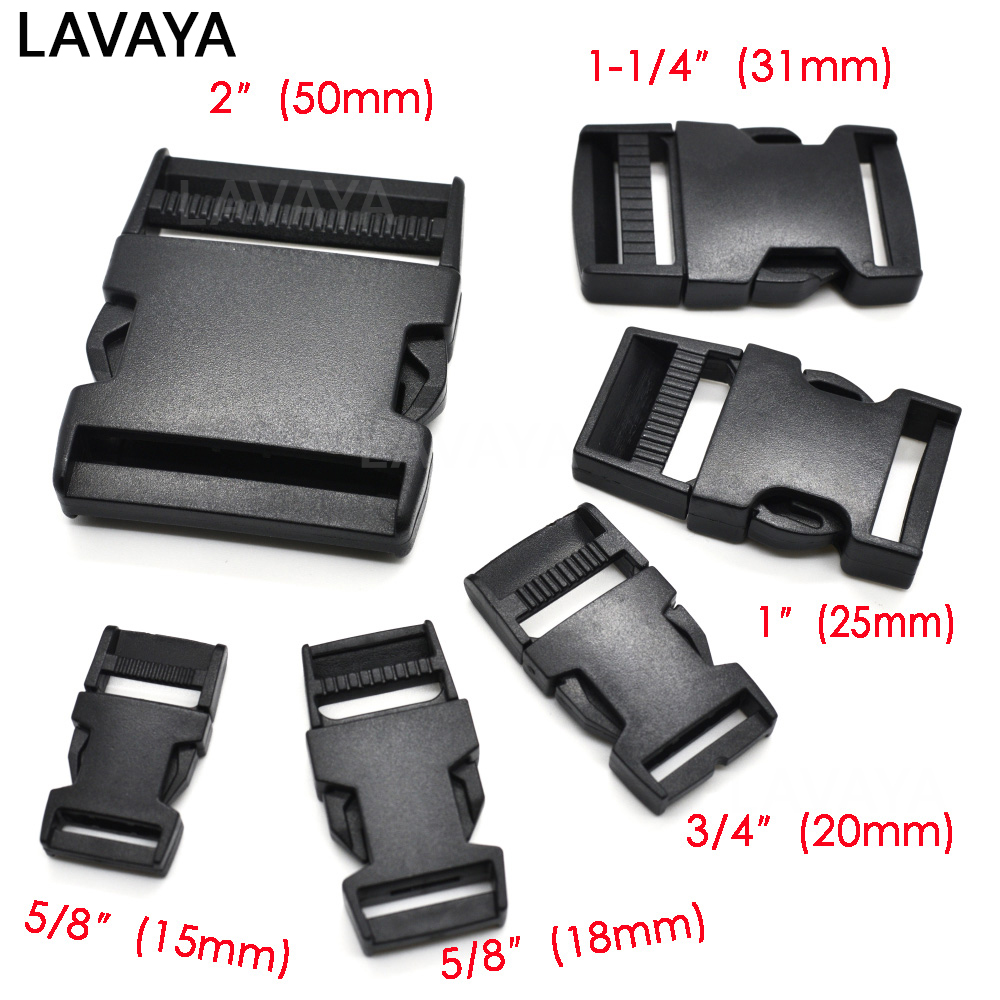 1pcs 15mm,18mm,20mm,25mm,31mm,50mm Webbing Detach Buckle For Bags Students Bags Outdoor Bag Travel Buckle Accessories