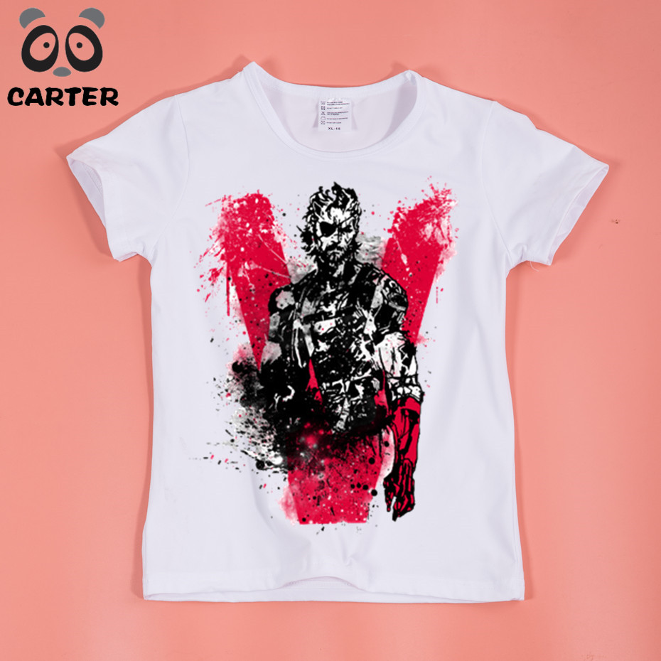 Game MGS Designed Boy and Girl T Shirt Kids Tops Summer Good Quality Soft Comfortable T-Shirt Baby Clothing
