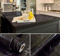 HOHOFILM 1.22x10 m brillant marbre vinyle auto adhésif papier peint marbre autocollant armoires de cuisine meubles utiliser 48''x33ft