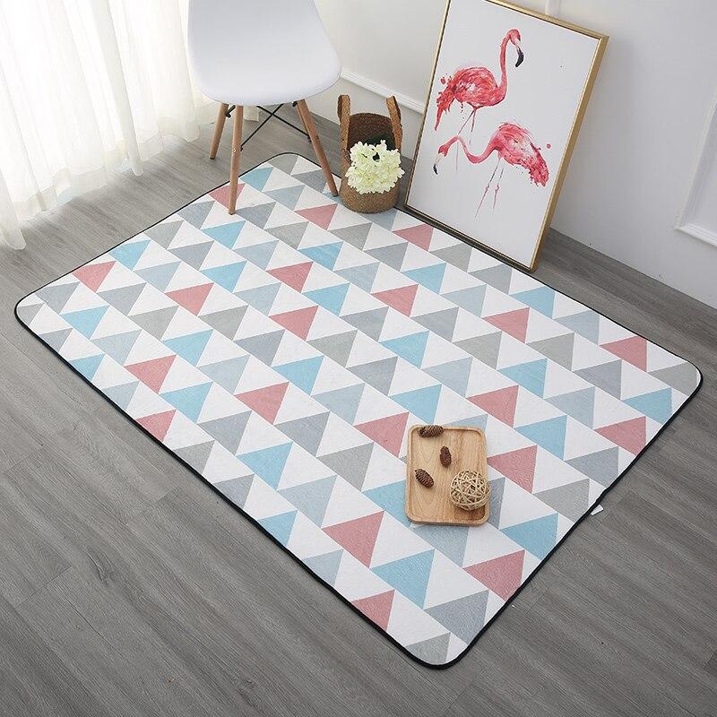 Épaissir doux enfants chambre tapis de jeu moderne chambre tapis enfants jouer aire de jeu tapis Table basse tapis pour salon