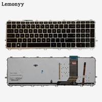 US Laptop keyboards for HP envy 15 J 15T J 15Z J 15 J000 15t j000 15z j000 15 j151sr English silver frame with Backlit keyboard
