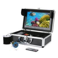 GAMWATER 10 Inch Color Monitor 50M HD 1000tvl Underwater Fishing Video Camera Kit 12 PCS Infrared