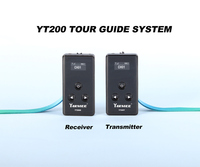 YARMEE New Tour Guide System Including 2 Transmitter With Mic , 30 Receivers With Earphone With Carry Case YT200