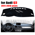 Car dashboard cover mat for Audi Q3 2011-2016 years Left hand drive dashmat pad dash covers auto dashboard accessories