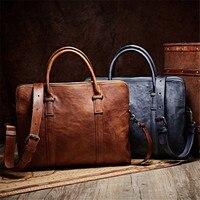 Винтажная сумочка для мужчин сумка пояса из натуральной кожи сумки человек Офис через плечо для Бизнес Портфели bolso