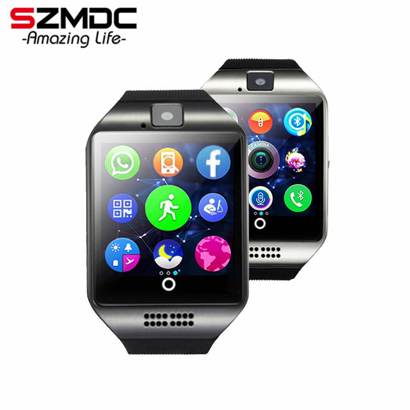 SZMDC Bluetooth Smart Watch <font><b>S18</b></font> With Camera Facebook Whatsapp Twitter Sync SMS Support SIM TF Card For IOS Android <font><b>Phone</b></font>