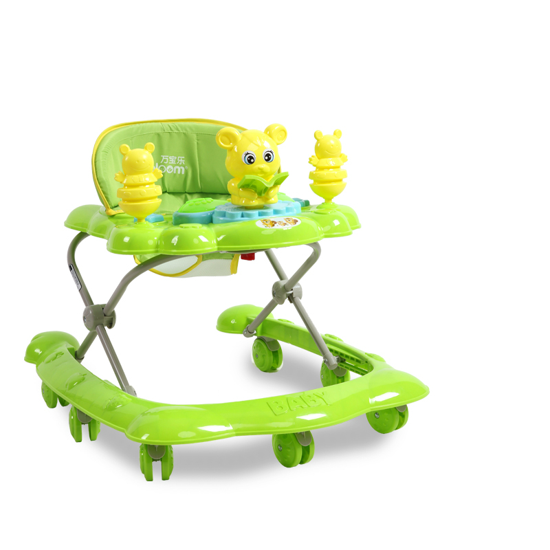 Best Selling 7-18 Months Baby Car Anti Rollover Multifunctional Baby Walker U Type With Music Toys Plate Safety Folding Easy 2016 new baby walker car anti roll over multifunctional baby stroller music toys plate baby walk learning car folding walker c01
